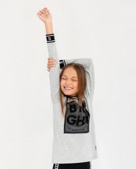 Серая футболка с длинным рукавом Gulliver