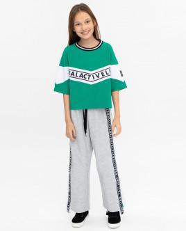 Зеленая футболка с принтом Gulliver