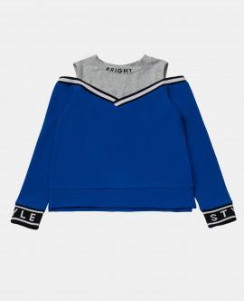 Серо-синий свитшот Gulliver