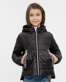 Черная демисезонная куртка 12009GJC4103 фото