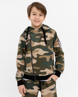 Khaki hoodie Gulliver