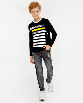 Black long sleeve t-shirt Gulliver
