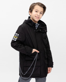 Black mid-season coat Gulliver