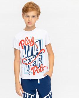 Белая футболка с принтом Gulliver Gulliver