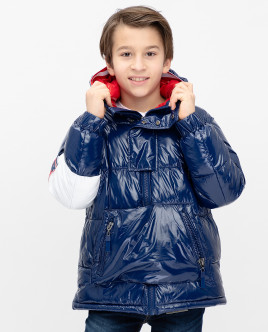 Синяя демисезонная куртка