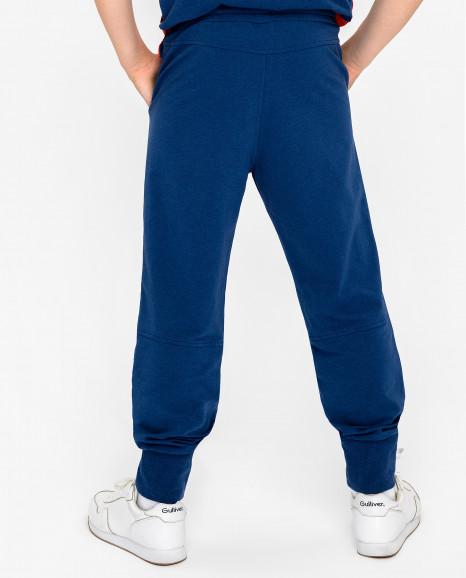 Синие брюки с принтом