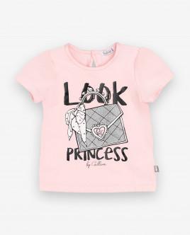 Розовая футболка с принтом Gulliver