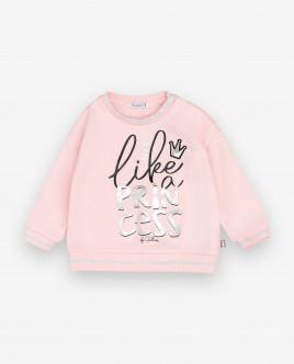 Розовый свитшот с принтом Gulliver