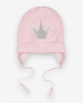 Розовая вязаная шапка Gulliver