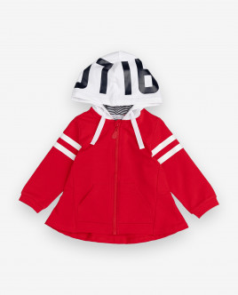 Red zipped hoodie Gulliver