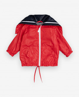 Red windbreaker Gulliver
