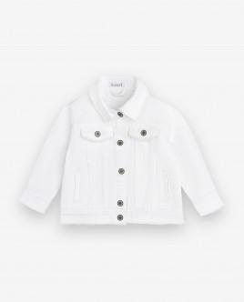 Купить со скидкой Белая джинсовая куртка