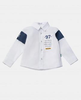 Белая рубашка с принтом 12033BBC2301 фото
