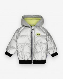 Купить 12034BBC4102, Серебристая демисезонная куртка, Gulliver Wear, серебряный, 74, Мужской