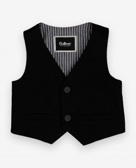 Черный нарядный жилет Gulliver