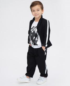 Купить 120GPBMC6302, Черные брюки, Gulliver Wear, черный, 104, Мужской