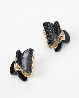 Черная заколка-краб Gulliver