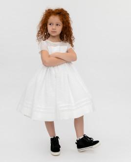 Купить 120GPGMC2506, Белое нарядное платье, Gulliver Wear, белый, 110, Женский