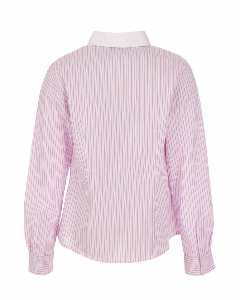Блузка в розовую полоску