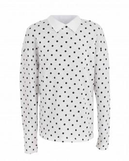 Блузка в горошек с отстегивающимся воротником OUTLET