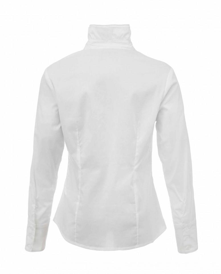Блузка с двойным ассиметричным рюшем