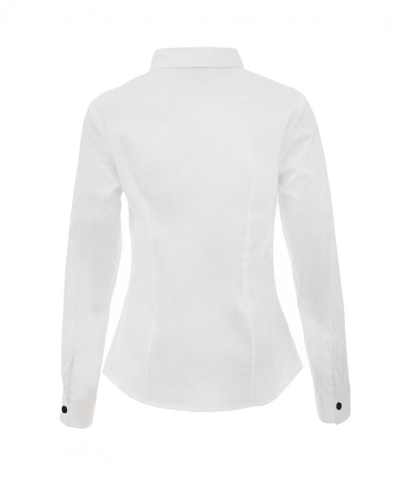 Белая блузка с пышными рюшами