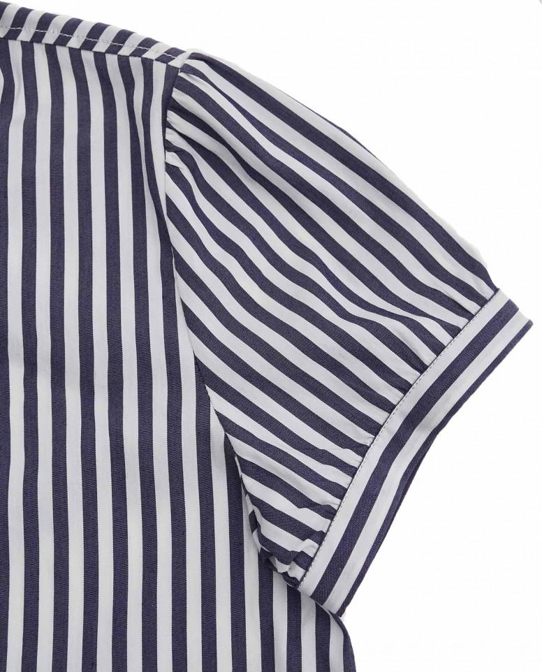 Блузка в полоску с коротким рукавом