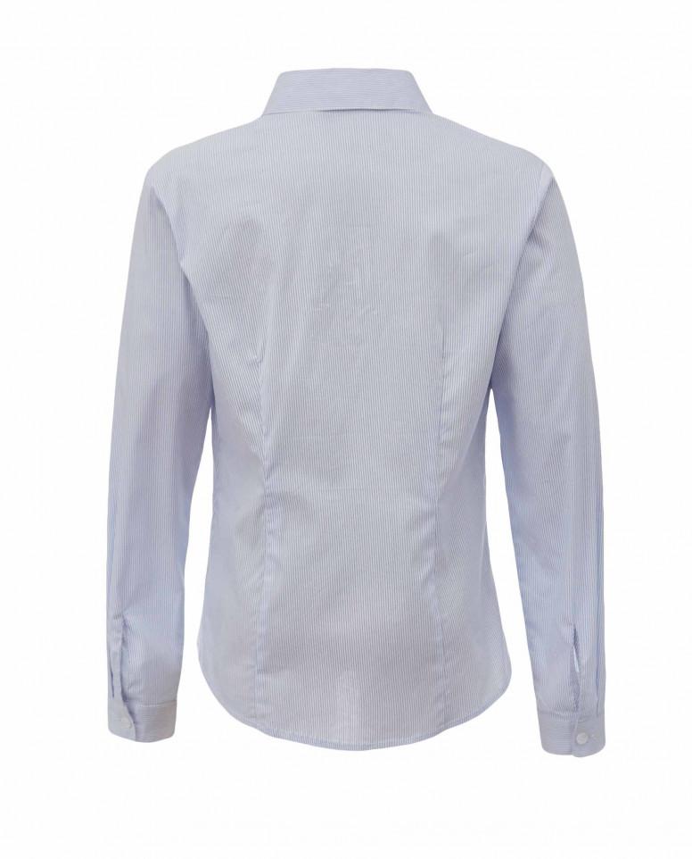 Блузка в голубую полоску