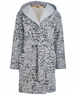 Серый халат для мальчика OUTLET