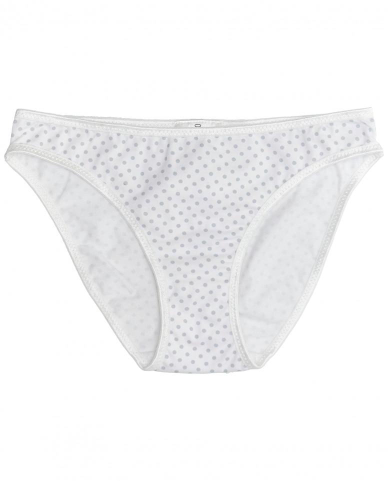 Белые трусики в горошек для девочки
