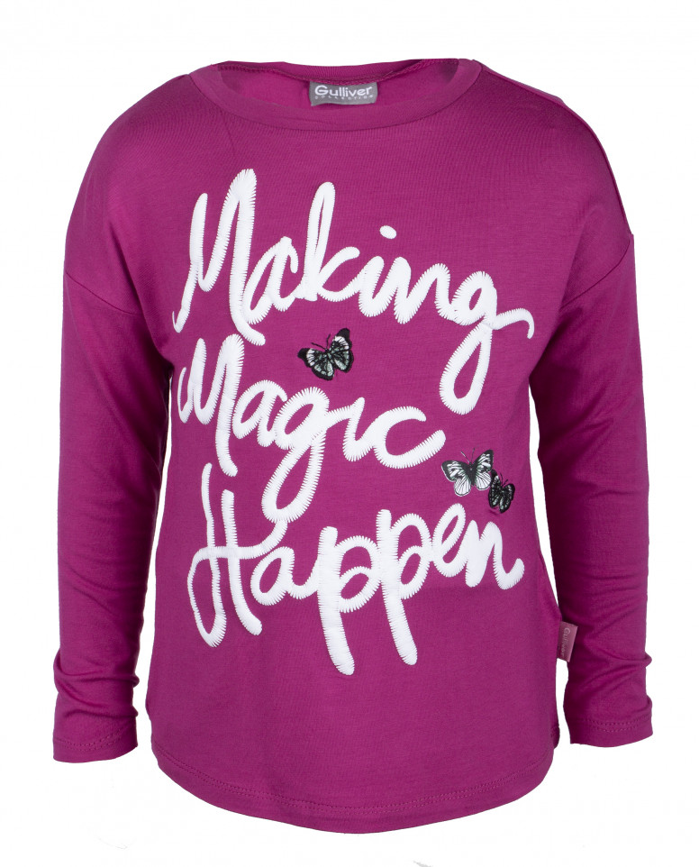 Розовая трикотажная футболка