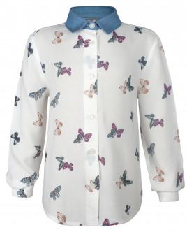 "Рубашка с орнаментом ""Бабочки"" OUTLET"