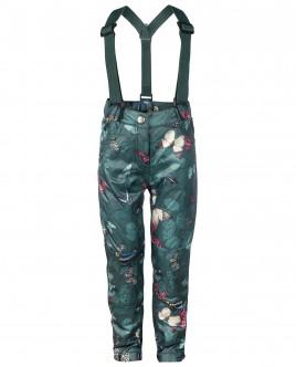 Зеленые брюки с отстегивающимися бретелями OUTLET