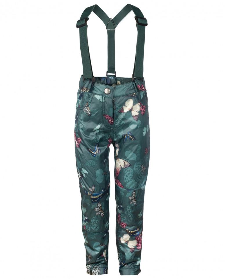 Зеленые брюки с отстегивающимися бретелями
