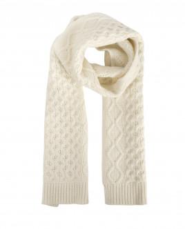 Белый вязаный шарф OUTLET