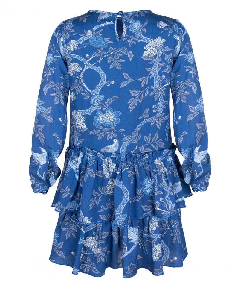 Синее платье из вискозы