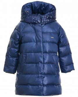 Пуховое пальто с пайетками OUTLET