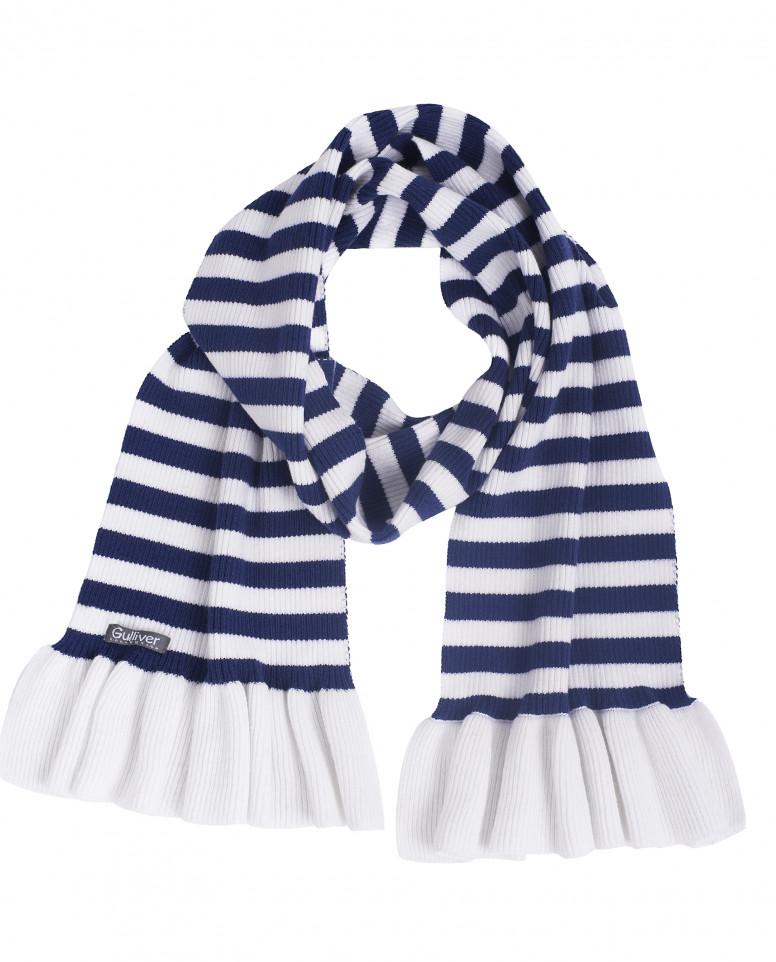 Полосатый вязаный шарф