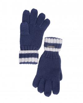 Синие вязаные перчатки OUTLET