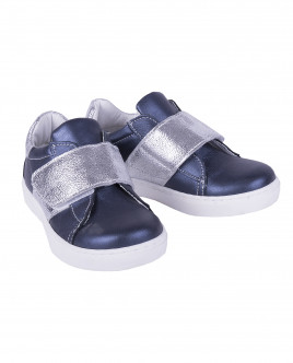 Blue leather sneakers Gulliver
