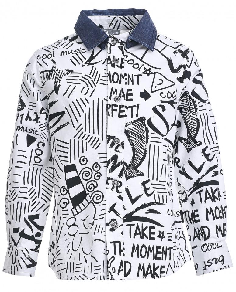Рубашка со съемным воротником
