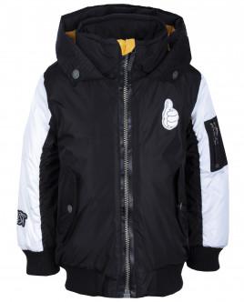 Черно-белая куртка-бомбер OUTLET