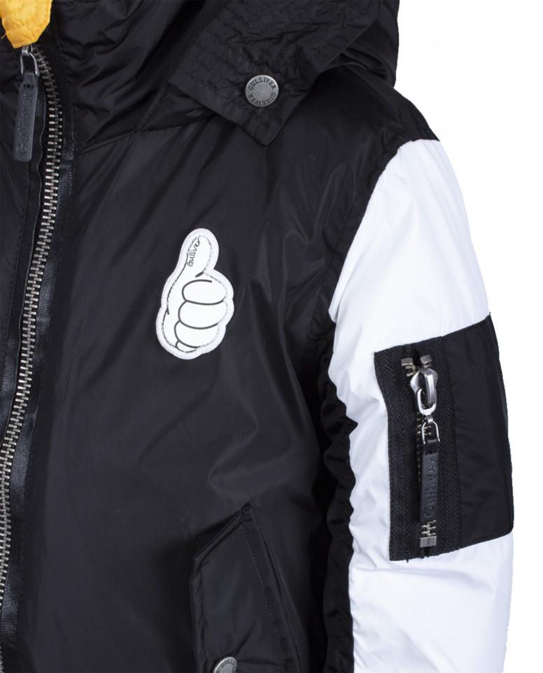 Черно-белая куртка-бомбер
