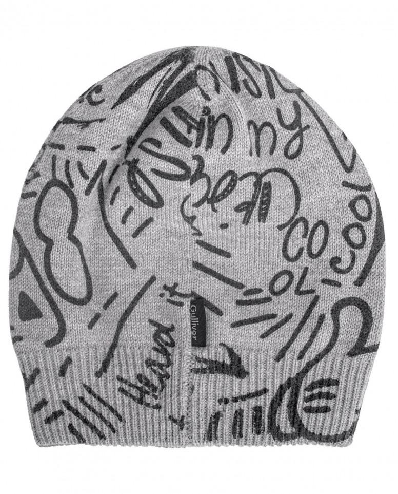 Вязаная шапка с орнаментом Style