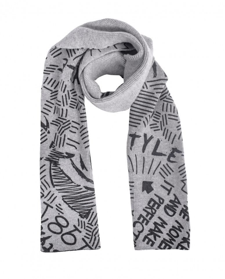Вязаный шарф с орнаментом Style