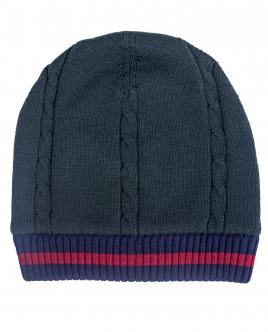 Зеленая вязаная двойная шапка OUTLET