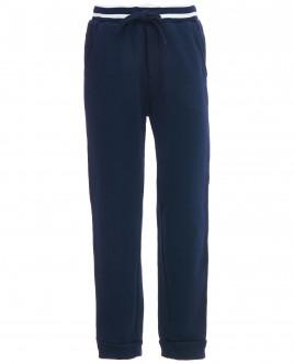 Синие брюки на резинке с люрексом OUTLET