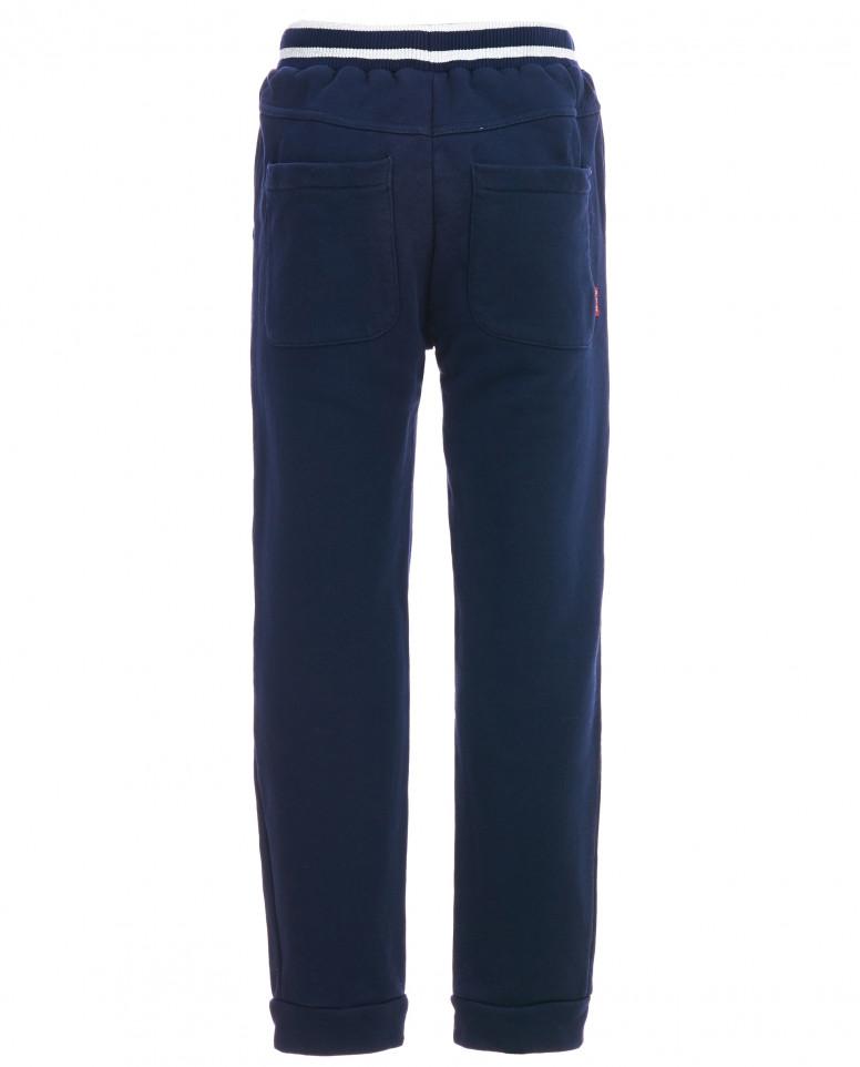 Синие брюки на резинке с люрексом