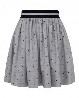 """Серая юбка с орнаментом """"Звездопад"""" OUTLET"""