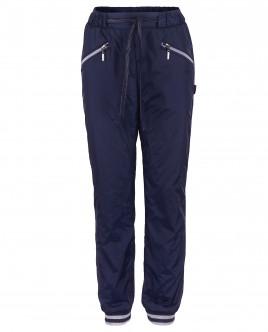 Синие брюки с манжетами на резинке OUTLET